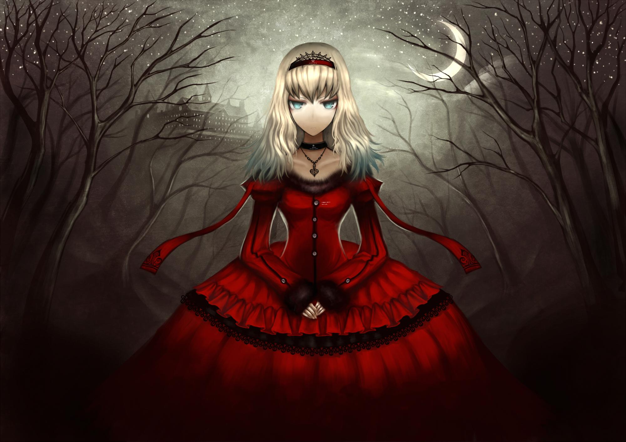 Алиса в стране чудес красное платье
