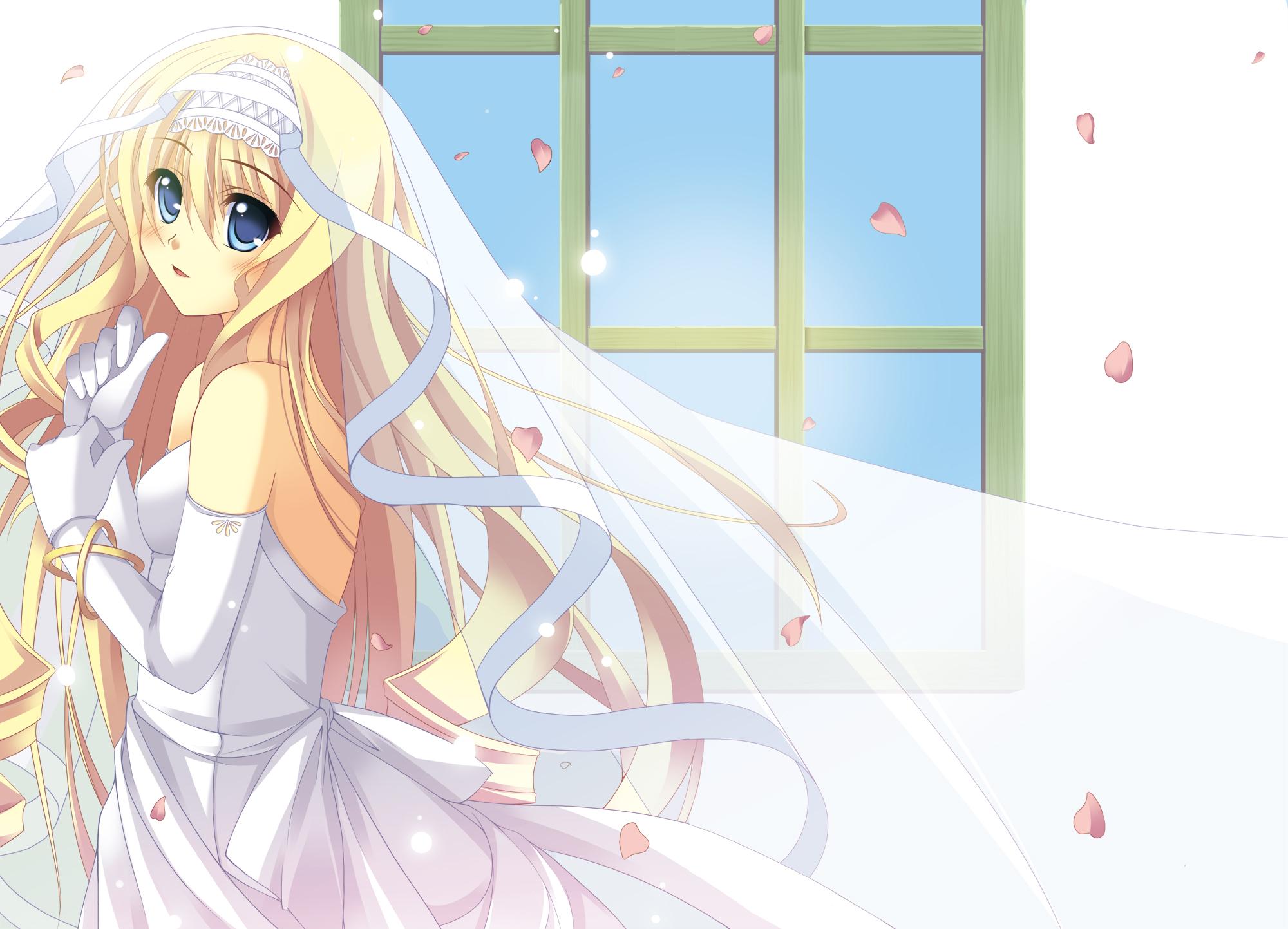 Девушка в свадебном платье аниме обои ...: animexa.ru/wallpaper/6035.html