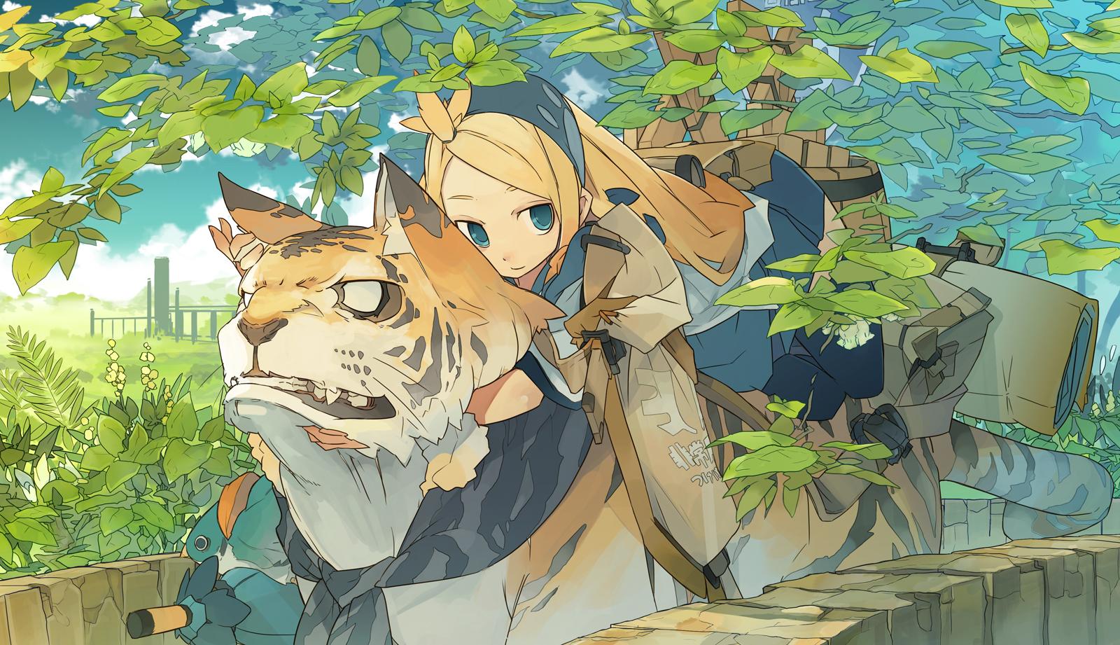 картинки тигров аниме:
