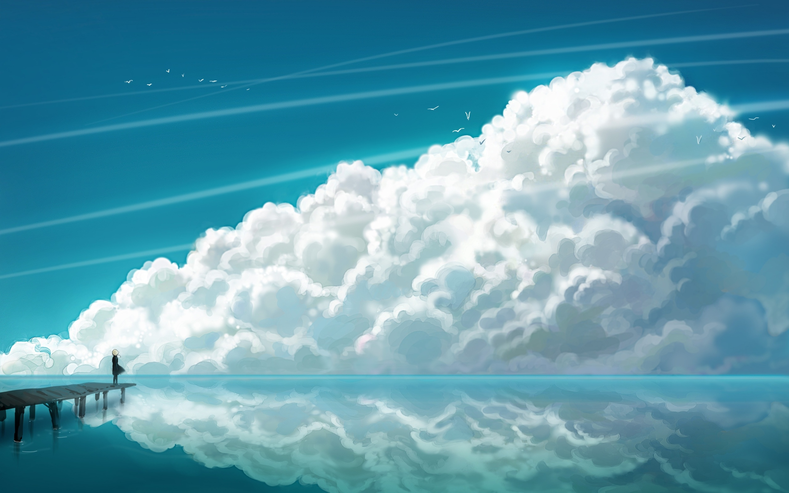 Обои Вода, Облака. Пейзажи foto 15