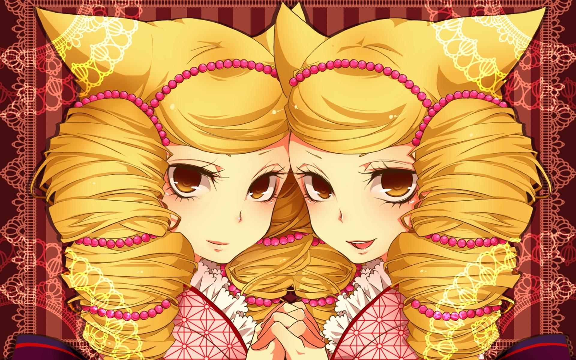 аниме картинки близняшек: